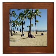 Waikiki Beach Framed Tile
