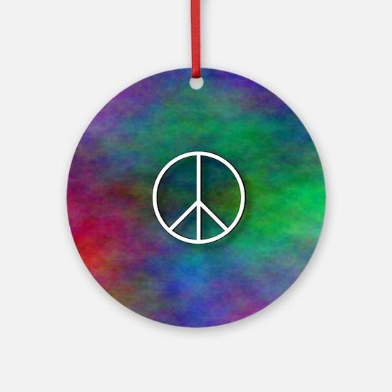 Peace Tie Dye Round Ornament