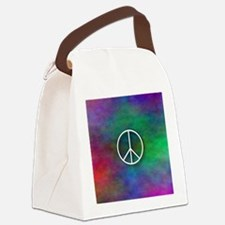 Peace Tie Dye Canvas Lunch Bag