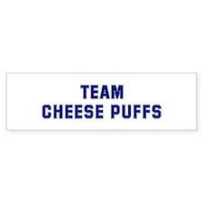 Team CHEESE PUFFS Bumper Bumper Sticker