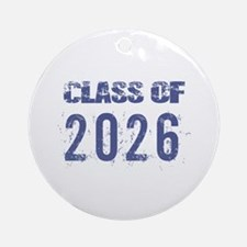 Class Of 2026 (Grunge-a) Ornament (Round)
