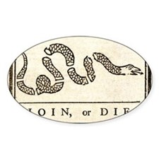 Join or Die Higher Contrast Decal