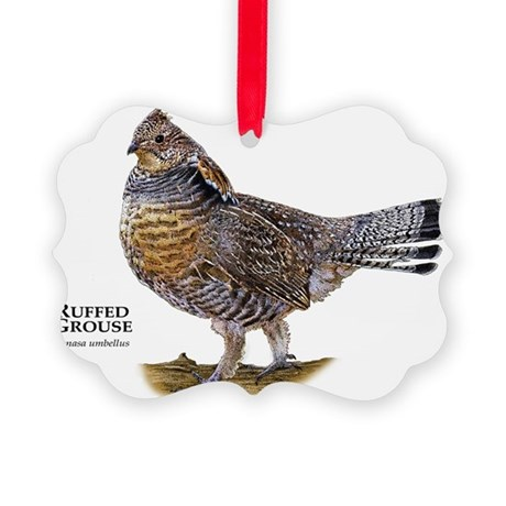Ruffed Grouse Picture Ornament
