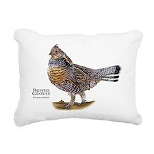 Ruffed Grouse Rectangular Canvas Pillow