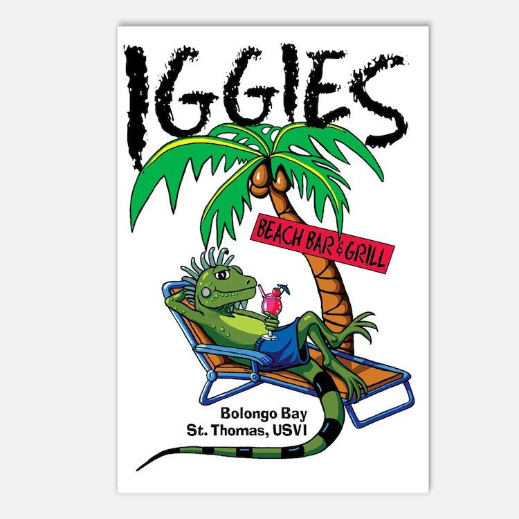 Iggie's Beach Bar Postcards (Package of 8)