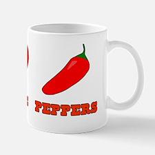 Peace Love Peppers Mug
