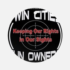 Twin Cities Gun Owners emblem Round Ornament
