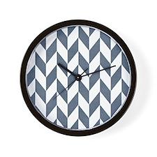 Zigzag Pattern Wall Clock