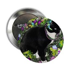 """Freckles the Tux Cat in Easter Eggs 2.25"""" Button"""