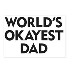 World's Okayest Dad Postcards (Package of 8)