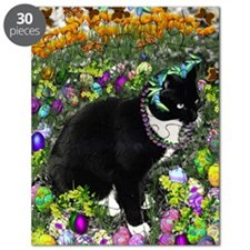 Freckles the Tux Cat in Easter Eggs Puzzle