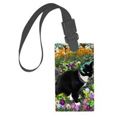 Freckles the Tux Cat in Easter E Luggage Tag