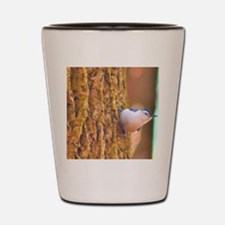 Larry the Nuthatch Shot Glass
