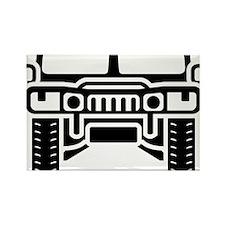 Hummer/Humvee illustration Rectangle Magnet