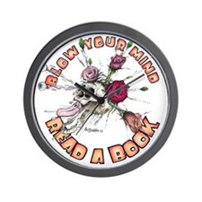 Blow Your Mind Read A Book Wall Clock