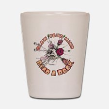 Blow Your Mind Read A Book Shot Glass