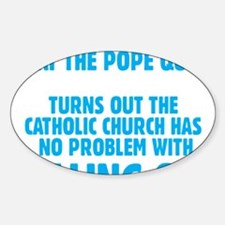 Pull Out Pope (Dark) Decal
