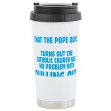 Pull Out Pope (Dark) Travel Mug