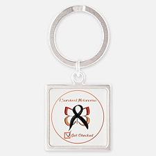 Melanoma Awareness Square Keychain