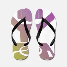 Colorful DJ Flip Flops