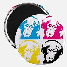 4 DJ monkeys Magnet