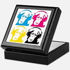 4 DJ monkeys Keepsake Box