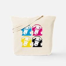 4 DJ monkeys Tote Bag