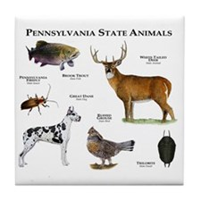 Pennsylvania State Animals Tile Coaster