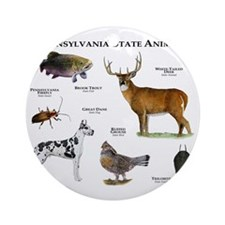 Pennsylvania State Animals Round Ornament