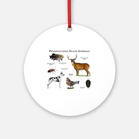 Pennsylvania State Animals Round Ornament