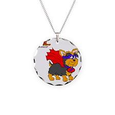 Yorkie Super Hero Necklace