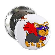 """Yorkie Super Hero 2.25"""" Button"""