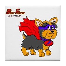 Yorkie Super Hero Tile Coaster