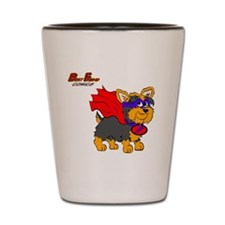 Yorkie Super Hero Shot Glass