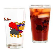 Yorkie Super Hero Drinking Glass