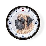 Mastiff & Paws Wall Clock