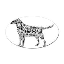 Labrador Typography Art Wall Decal
