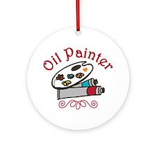 Oil  Painter Round Ornament