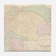 Vintage Austria Map Tile Coaster