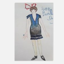 Happy Bastille Day! Postcards (Package of 8)