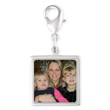 stace Silver Square Charm