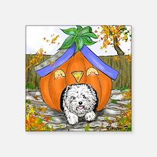"Pumpkin House Square Sticker 3"" x 3"""