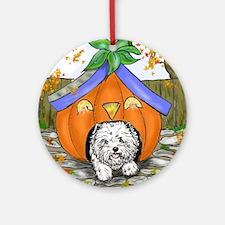 Pumpkin House Round Ornament