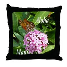 Passion Vine Butterfly Throw Pillow