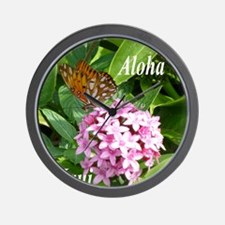 Passion Vine Butterfly Wall Clock