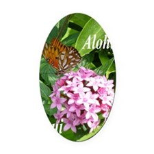 Passion Vine Butterfly Oval Car Magnet