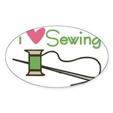 I Love Sewing Decal