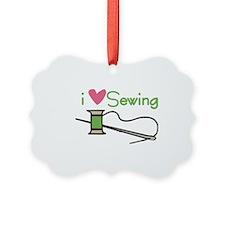 I Love Sewing Ornament