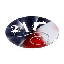 Oval - 2A - Flag Spectrum Oval Car Magnet