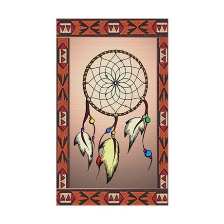 southwestern dreamcatcher smal Sticker (Rectangle)